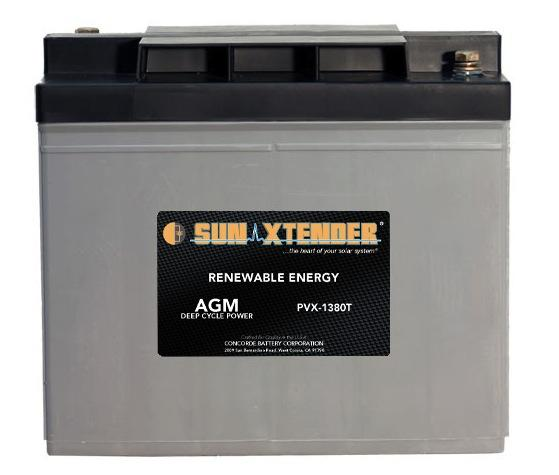 Concorde / Sun Xtender PVX-1380T AGM Battery