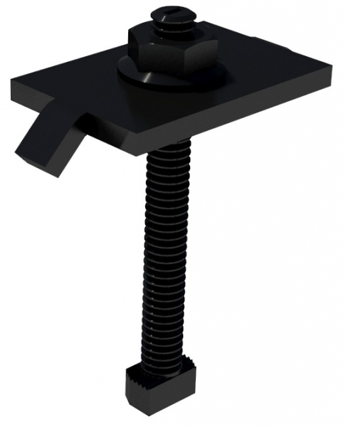 IronRidge Mid Clamp Black