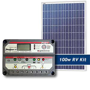 Sunrise 100W RV Solar Panel Kit