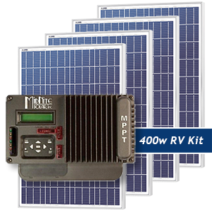 King of the Road 400W RV Solar Panel Kit