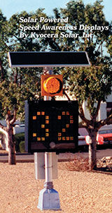 Solar powered speed awareness traffic systems from kyocera solar