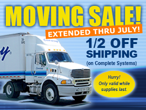 1/2 of shipping on select complete systems