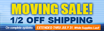 1/2 Off shipping on Complete systems