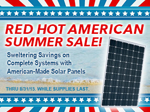 Sale on systems with US-made panels