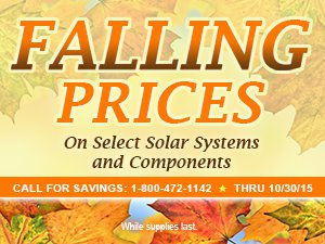 Special sale pricing through the end of October