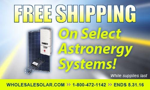 Free Shipping on Suniva solar kits