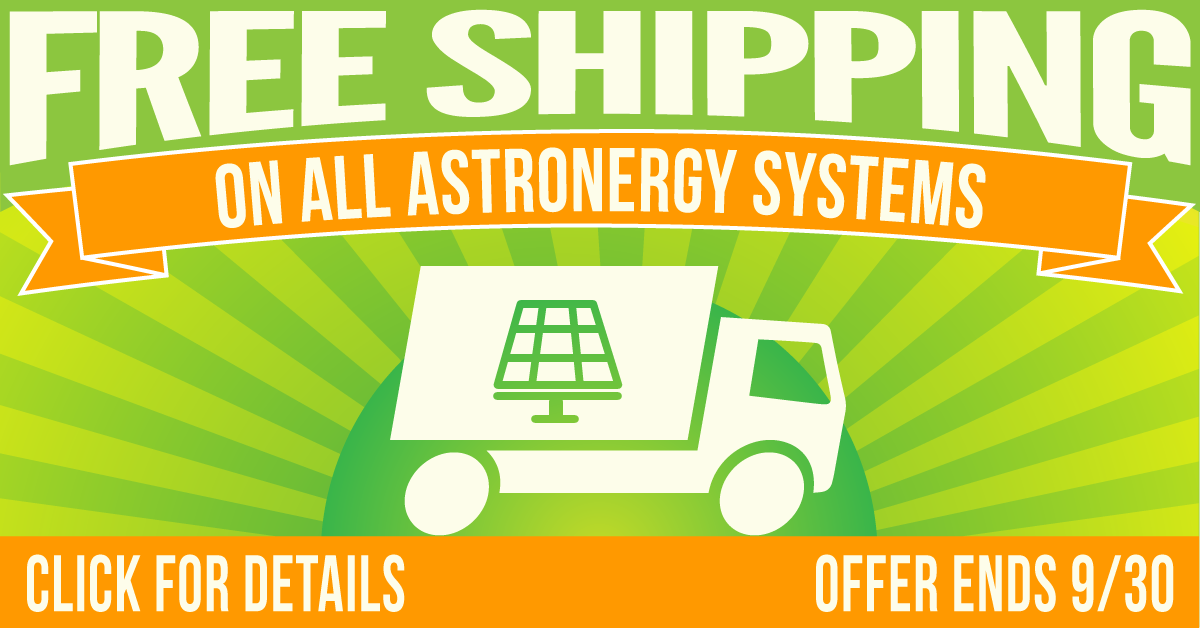 Free shipping image for Astronergy systems