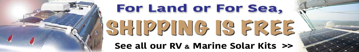 Free Shipping on RV and Marine Solar Systems