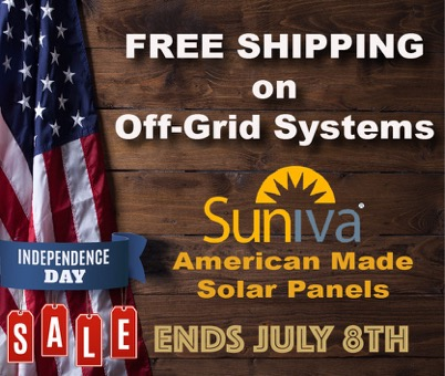 Off-Grid Free Shipping Sale