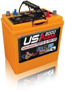 U.S. Battery AGM US 2000 Battery