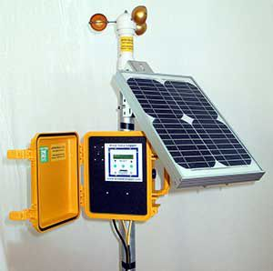 APRS solar powered wind data logger