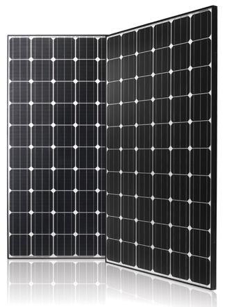 LG LG300N1C Black Mono 300 watt Solar Panel