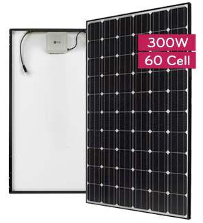 LG LG300A1C-B3 Black Mono 300 watt Solar Panel