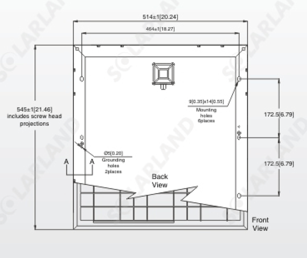 SLP030-12 30-watt solar panel