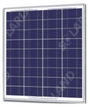 Solarland SLP070-12U Silver Poly Solar Panel