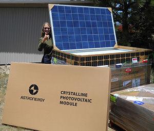 Solar panel pallet