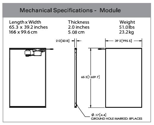 Westinghouse 235-watt AC Solar Panel Specs