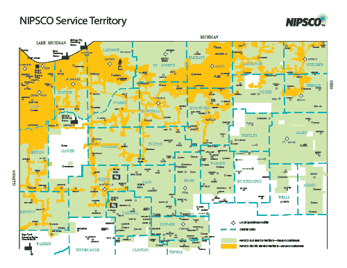 NIPSCO Service Area Map