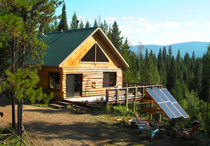 Off grid solar cottage