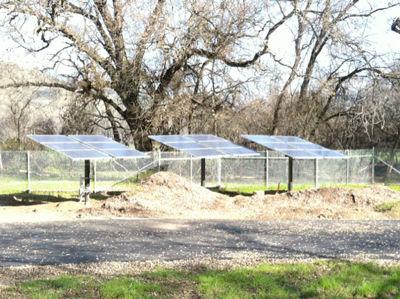 21 solar panel off-grid installation