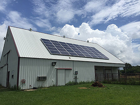 Off Grid Ranch with Solar Panel
