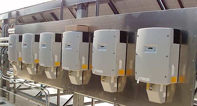 SMA inverters feeding into the grid
