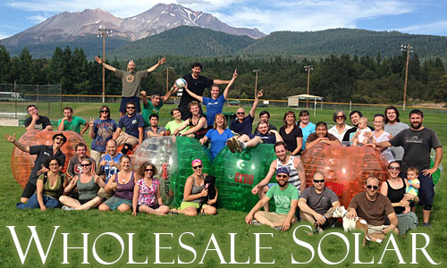 Wholesale Solar Team playing Bubble Ball