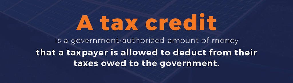 Definition of a tax credit.