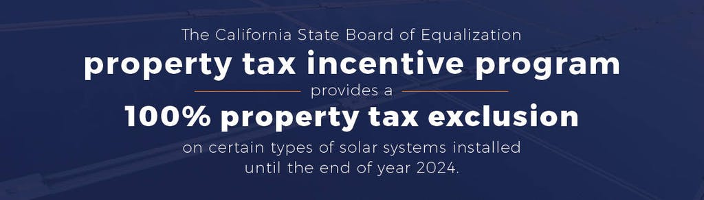 The California State Board of Equalization property tax incentive program.