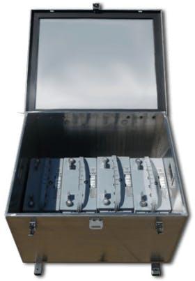 Ameresco 4BS2000BP Battery Box, Aluminum Mill, UL Listed, NEMA3R