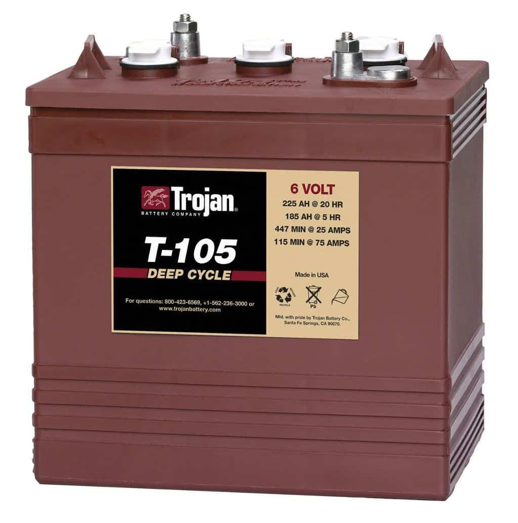 Trojan Battery Company T-105 Flooded Battery