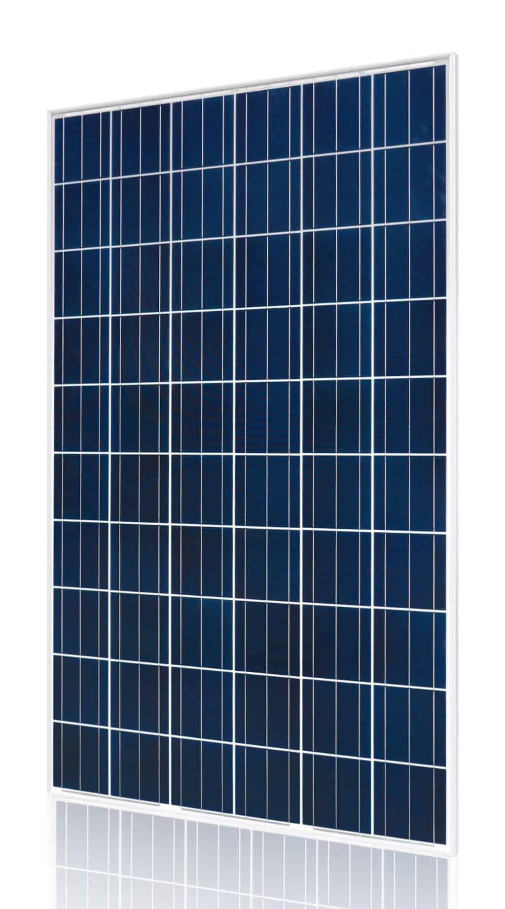 Hyundai HiS-M260RG Black Frame, White Backsheet Poly Solar Panel