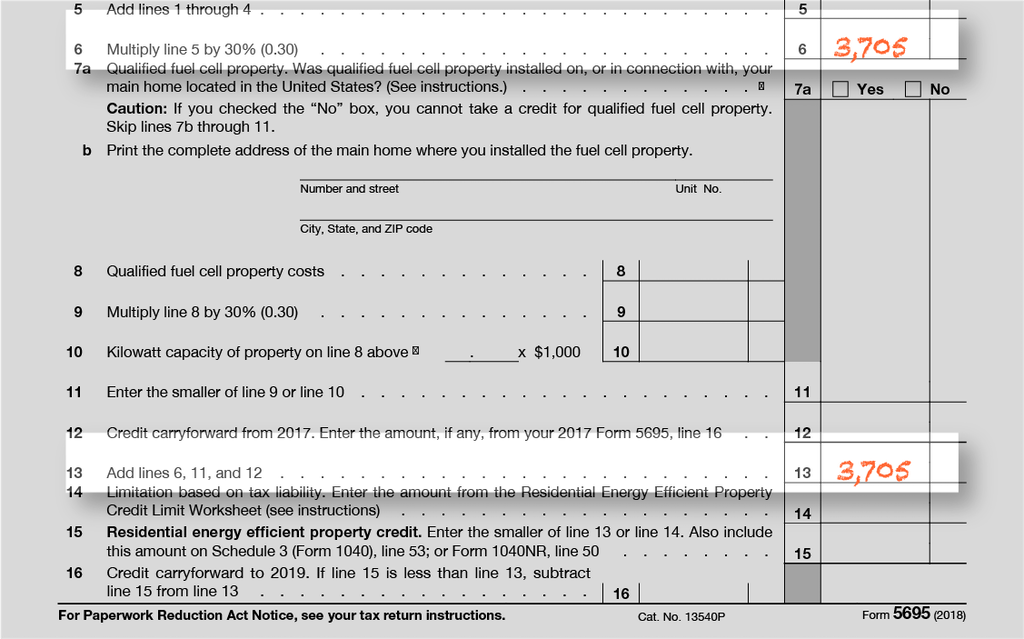 Form 5695, Line 13