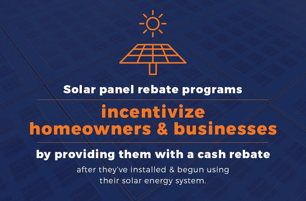 Solar panel rebate program incentives.