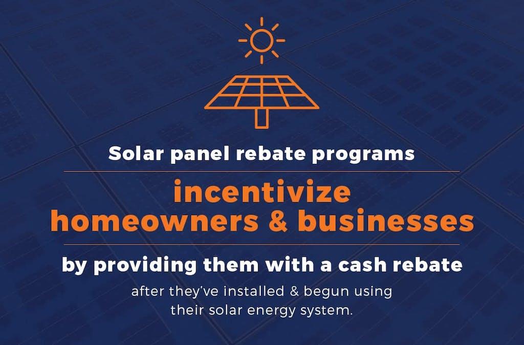 Solar panel rebate program incentives.