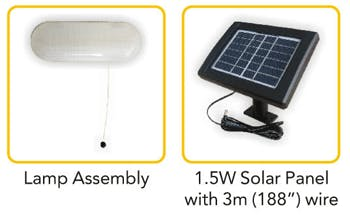 Solarland BSL-P8002M-1   LED Solar Shed Light