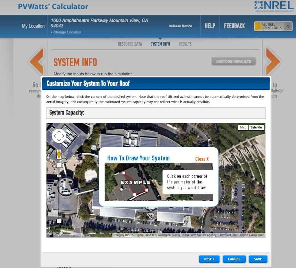 NREL PVWatts Roof Analysis