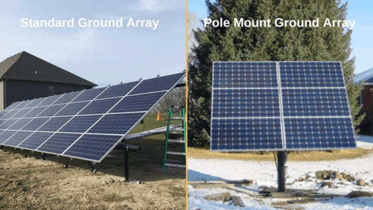 Standard ground mount vs. Pole mount