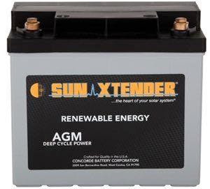 Concorde / Sun Xtender PVX-340T AGM Battery