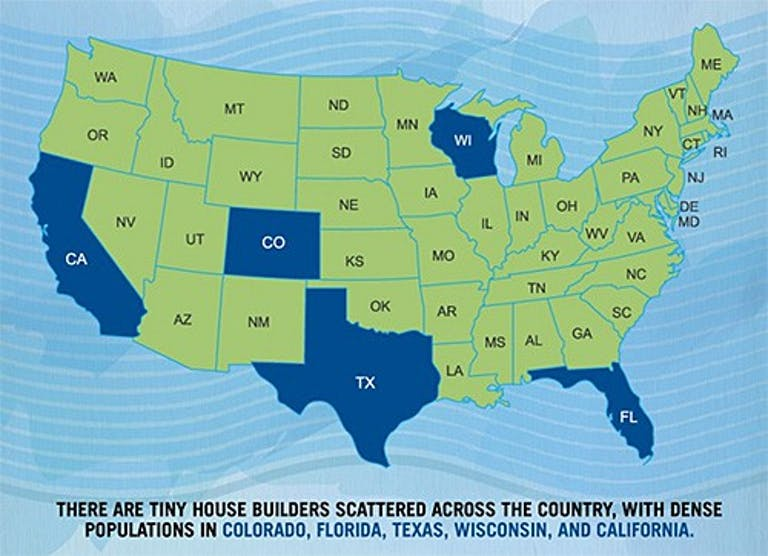 Tiny Home Popularity by State