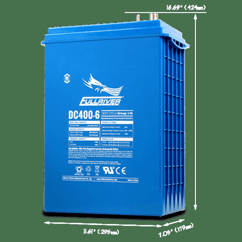 Best AGM solar battery: Fullriver DC400-6
