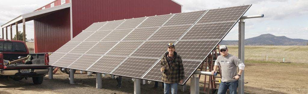 Fixed ground mounts are the best racking option for those who need easy access to their PV array.