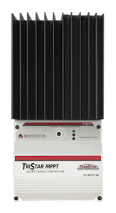 Best charge controller for remote applications: Morninstar TriStar