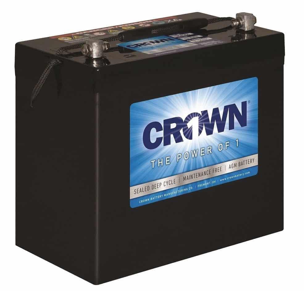 Crown 12CRV55, 55Ah 12V AGM Battery