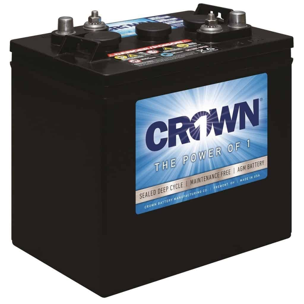Best battery for RV and remote applications: Crown 6CRV220 SLA battery