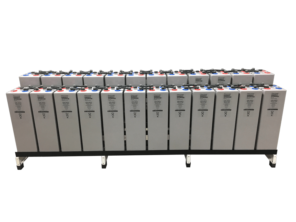 Discover Battery OPzV Tubular Gel 1,265Ah 60.7kWhr / 48VDC w/ Racking & Interconnects (24) Battery Bank