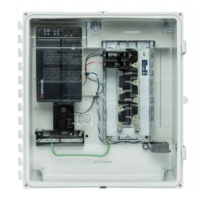 Enphase IQ Combiner+ with IQ Envoy - 4 Circuit, Breakers Sold Separately