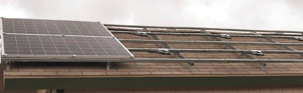 A standard fixed roof mount - the most cost effective solar panel mount around.