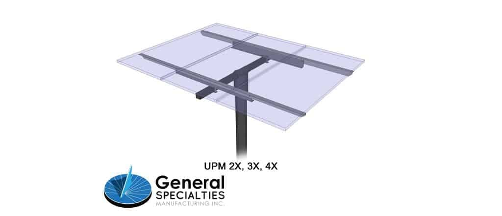 General Specialties UPM 3X Pole Mount (for Panel Sizes: A, B, C, D)