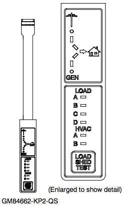 Kohler RXT Transfer Switch Status and Load Shed Indicator